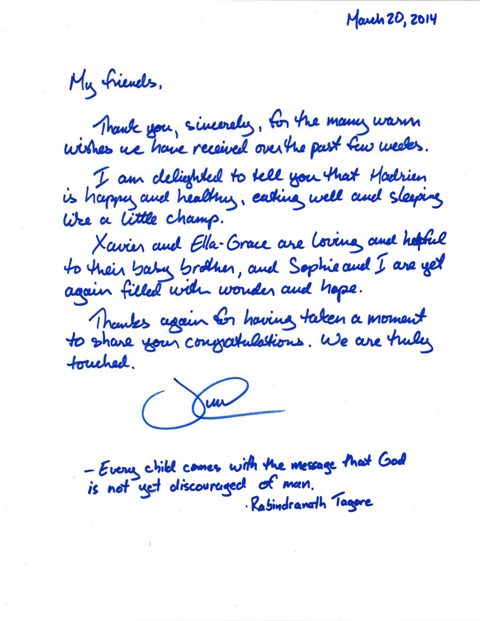 Justin Trudeau S Personal Handwritten Letter Discovery